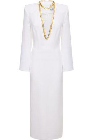 Rowen Rose Viscose Sable Long Dress W/ Necklace