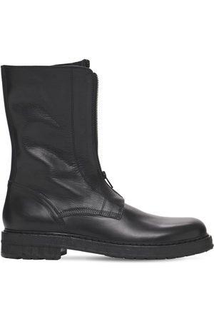 ANN DEMEULEMEESTER Santiago Leather Zip Boots