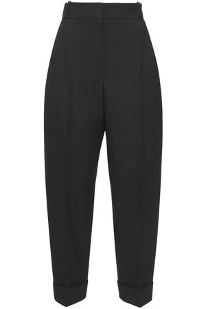 Alexander McQueen Cropped Tailored Wool Pants