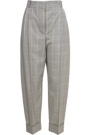 Alexander McQueen Cropped Wool Prince Of Wales Pants