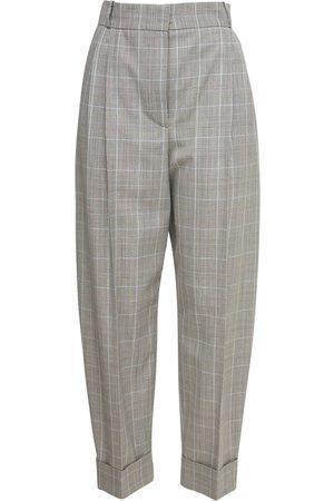 Alexander McQueen Cropped Wool Prince Of Wales Pants