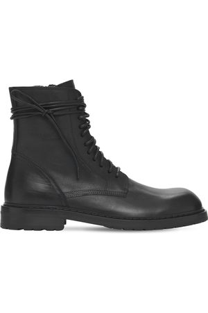 ANN DEMEULEMEESTER Santiago Leather Lace-up Boots
