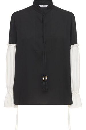 Max Mara Silk Shirt W/ Balloon Sleeves