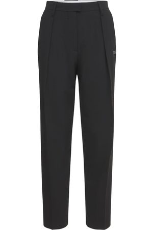 OFF-WHITE Formal Straight Leg Wool Blend Pants