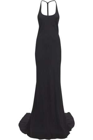 ANN DEMEULEMEESTER Sofia Wool & Silk Jersey Long Dress