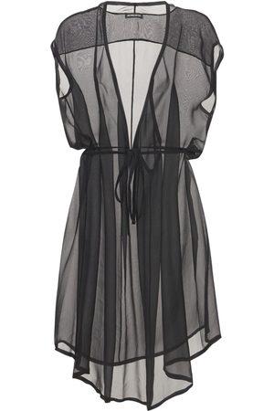 ANN DEMEULEMEESTER Silk Sheer Muslin Dress