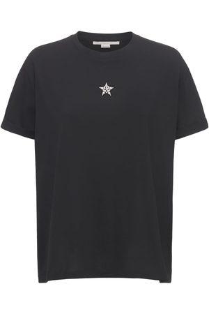 Stella McCartney Star Detail Cotton Jersey T-shirt