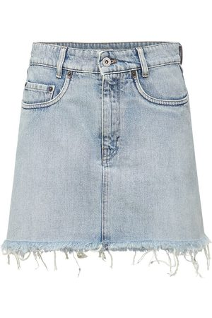Miu Miu Cotton Denim Mini Skirt