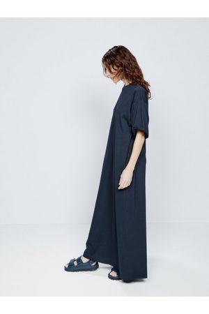 Raey Women Maxi Dresses - Recycled-yarn Cotton-blend Maxi T-shirt Dress - Womens - Navy