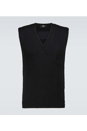 Fendi Men Cotton-blend embossed vest