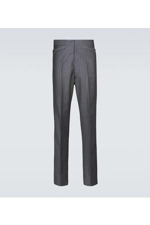 Maison Margiela Pinstriped wool-blend pants