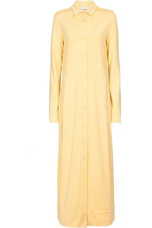 Jil Sander Women Casual Dresses - Stretch-jersey shirt midi dress