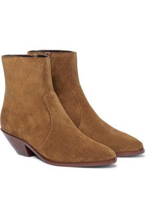 Saint Laurent Wyatt suede ankle boots