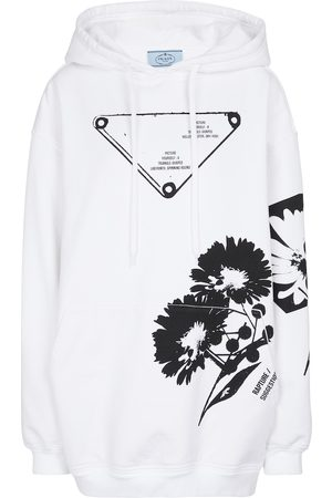 Prada Women Hoodies - Oversized cotton jersey hoodie
