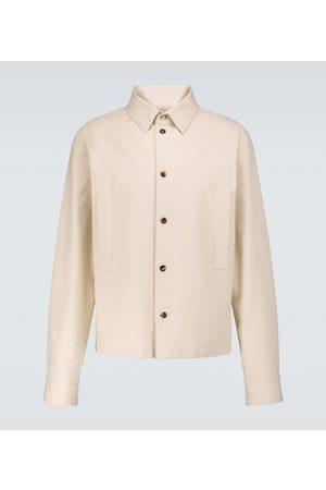 Bottega Veneta Men Long sleeves - Cotton twill long-sleeved shirt