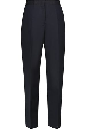 Jil Sander Women Trousers - High-rise cotton and silk carrot pants