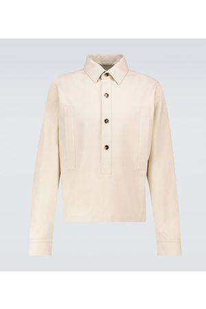Bottega Veneta Cotton twill half-placket shirt