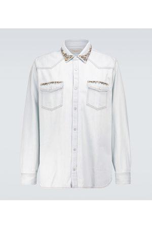 Golden Goose Axel bleached denim shirt