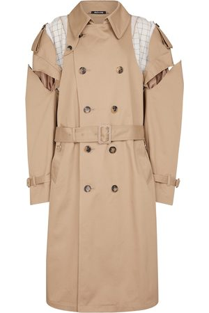 Maison Margiela Women Trench Coats - Deconstructed cotton trench coat