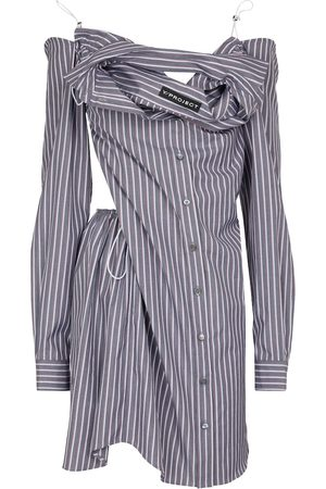 Y / PROJECT Women Casual Dresses - Striped cotton shirt dress