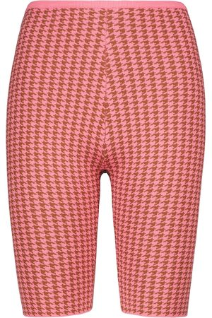 Tropic of C Women Shorts - Rumba houndstooth biker shorts