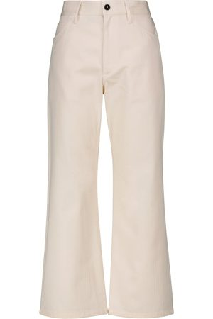 Jil Sander High-rise cotton bootcut pants