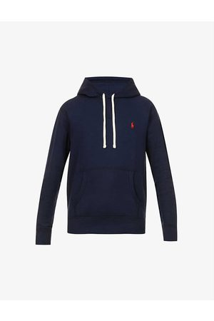 Polo Ralph Lauren Men Hoodies - Brand-embroidered cotton-blend jersey hoody