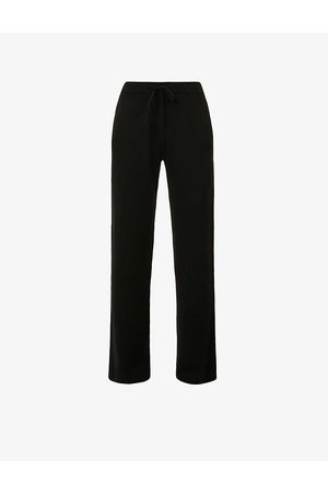 Chinti AND Parker Wide-leg high-rise cashmere trousers