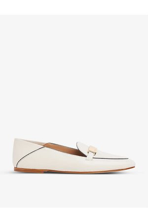LK Bennett Paola logo-embossed leather loafers