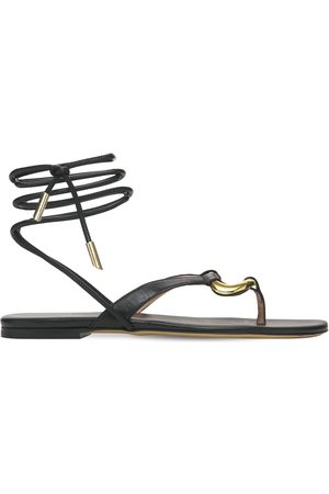 GIA 10mm Levante Leather Thong Sandals
