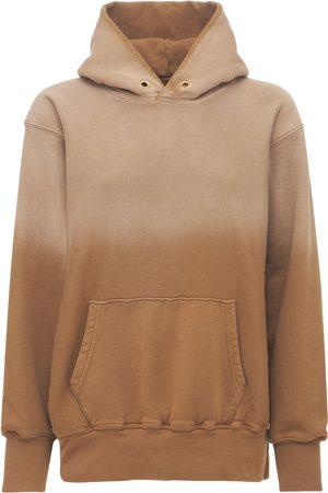 Les Tien Gradient Crop Cotton Sweatshirt Hoodie