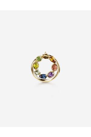 Dolce & Gabbana Jewelry - Rainbow alphabet O ring in yellow with multicolor fine gems female 56