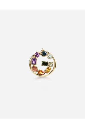 Dolce & Gabbana Jewelry - Rainbow alphabet G ring in yellow with multicolor fine gems female 48