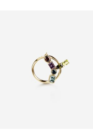 Dolce & Gabbana Jewelry - Rainbow alphabet Y ring in yellow with multicolor fine gems female 56