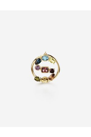 Dolce & Gabbana Jewelry - Rainbow alphabet S ring in yellow with multicolor fine gems female 50