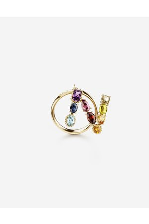 Dolce & Gabbana Jewelry - Rainbow alphabet N ring in yellow with multicolor fine gems female 56