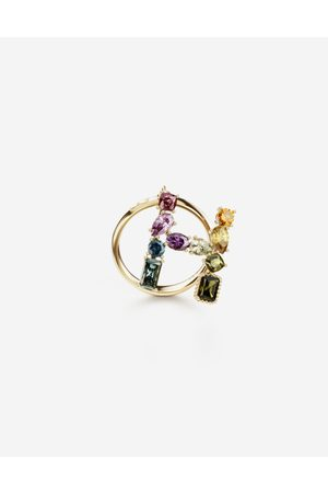 Dolce & Gabbana Women Necklaces - Jewelry - Rainbow alphabet H ring in yellow with multicolor fine gems female 46