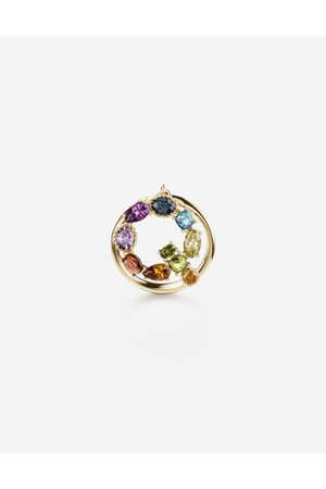 Dolce & Gabbana Jewelry - Rainbow alphabet Q ring in yellow with multicolor fine gems female 54