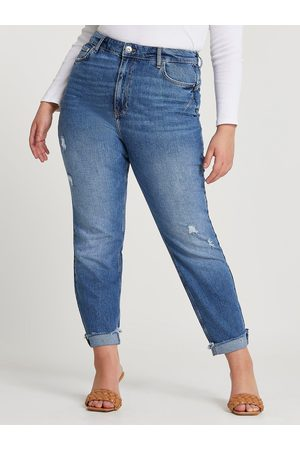 River Island Carrie Coulee High Waisted Mom Jean- Blue