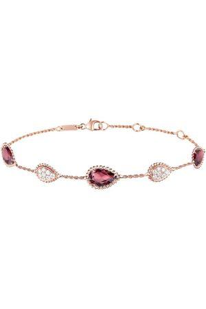 Boucheron Women Bracelets - Rose Gold, Diamond and Garnet Serpent Bohème Bracelet
