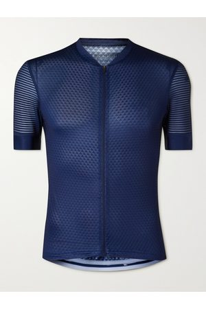 CAFE DU CYCLISTE Men Sports Tops - Micheline Mesh-Panelled Cycling Jersey