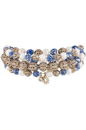 Marchesa Notte Triple bead charm bracelet