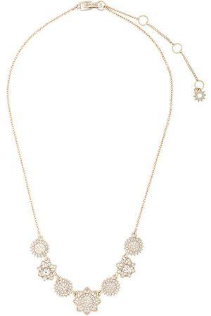 Marchesa Notte Crystal-embellished floral necklace