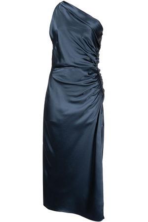 Michelle Mason One-shoulder silk dress