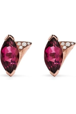 SHAUN LEANE 18kt rose gold tourmaline diamond earrings