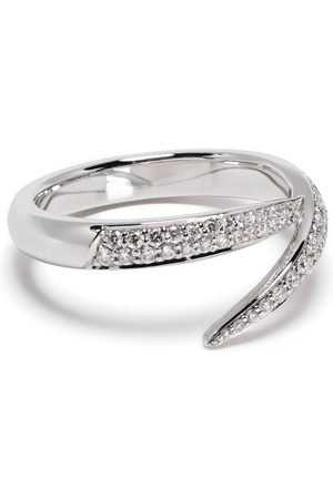 SHAUN LEANE Women Rings - 18kt white gold diamond Single Interlock ring