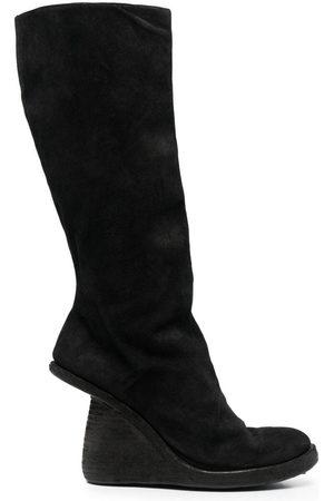 GUIDI Asymmetric-heel knee boots