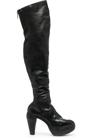 GUIDI Over-the-knee leather boots