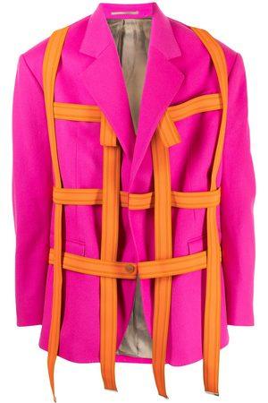 Comme Des Garçons Pre-Owned Strap detailing single-breasted blazer