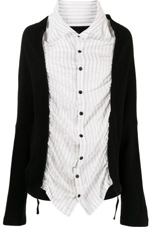 Y'S Knit-panelled shirt
